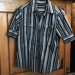 New York & Company. Short sleeve button-up.